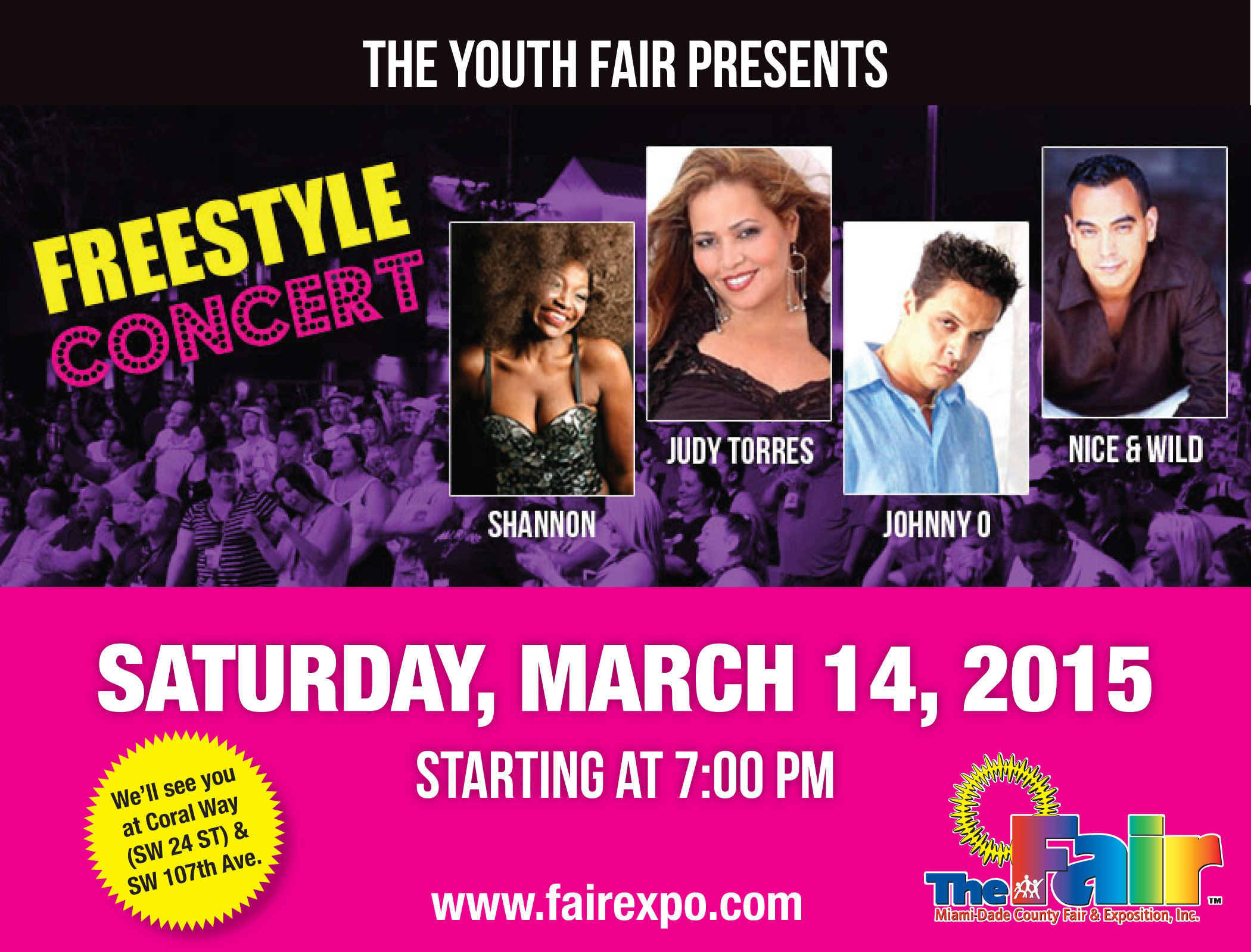 Miami-Dade County Youth Fair Freestyle Concert – March 14, 2015 7pm-10pm