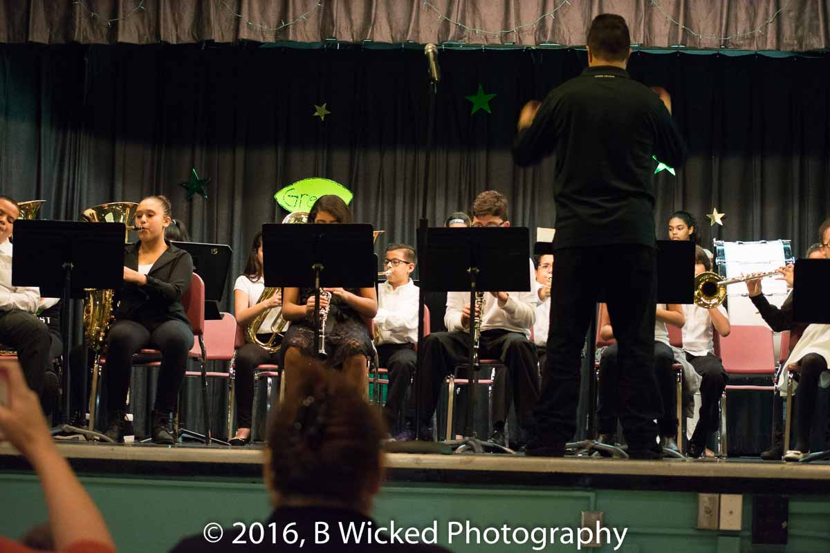 Ashton Benson at his first Band Recital